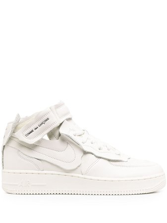 Nike x Comme Des Garçons Air Force 1 Mid Sneakers - Farfetch