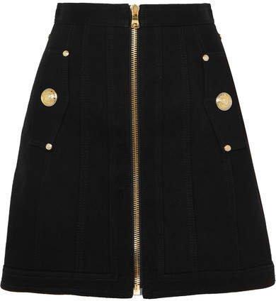 Denim Mini Skirt - Black