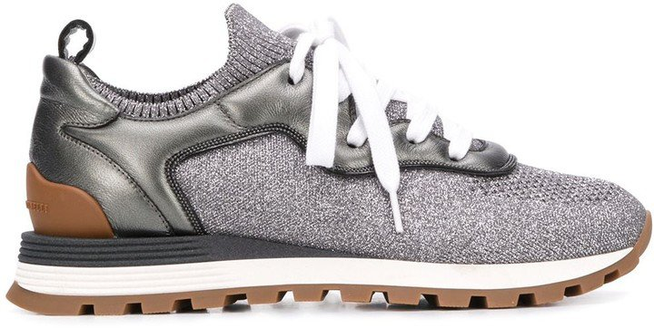 Sparkling Knit Sneakers