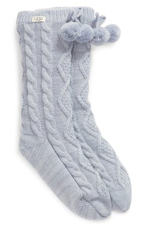 UGG® Pom Pom Fleece Lined Socks   Nordstrom