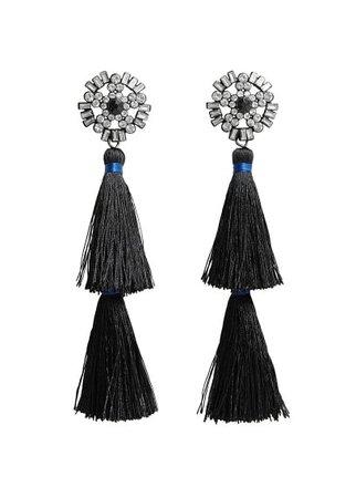 MANGO Tassels pendant earrings