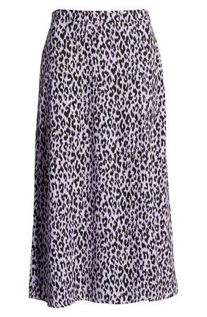 BP. x Claudia Sulewski Front Slit Midi Skirt lilac