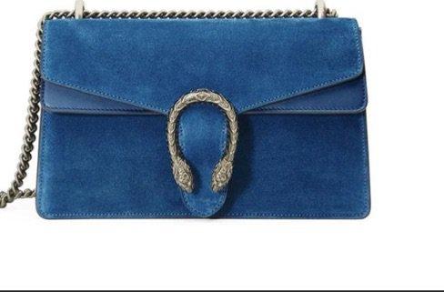 blue Gucci bag