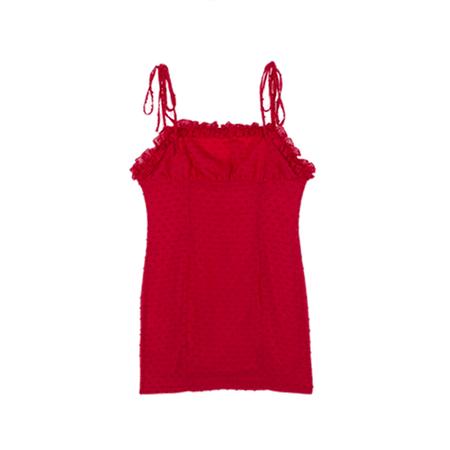 JESSICABUURMAN - EMELA Ruffled Polka Dot Mini Cami Dress
