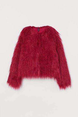 Faux Fur Jacket - Pink