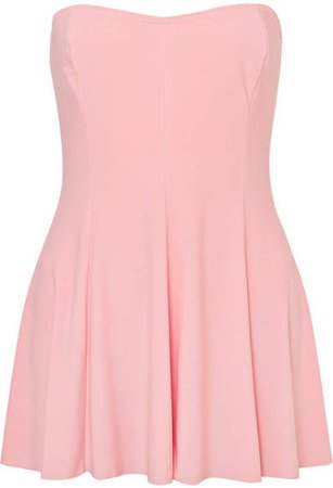 Strapless Swim Dress - Pastel pink