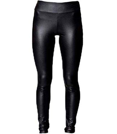 A-Express® High Waisted Black Shiny Faux Leather Wet Look Full Length Leggings: Amazon.co.uk: Clothing