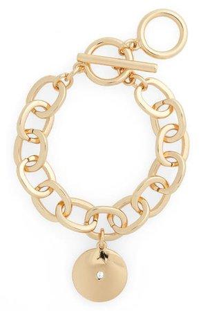 Halogen® Medallion Charm Bracelet | Nordstrom