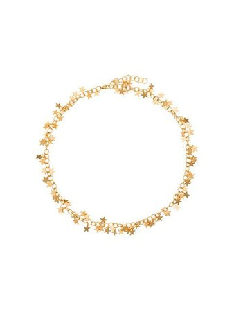 Malaika Raiss 24k gold plated star necklace