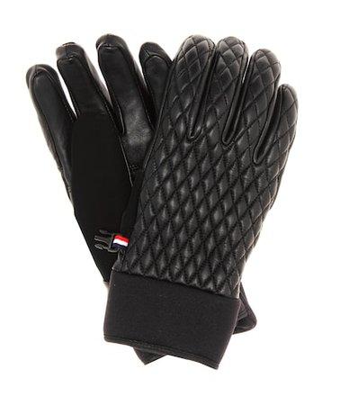 Athena leather ski gloves