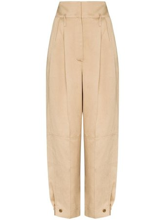 Givenchy Wide Leg Pleated Trousers Ss20 | Farfetch.com