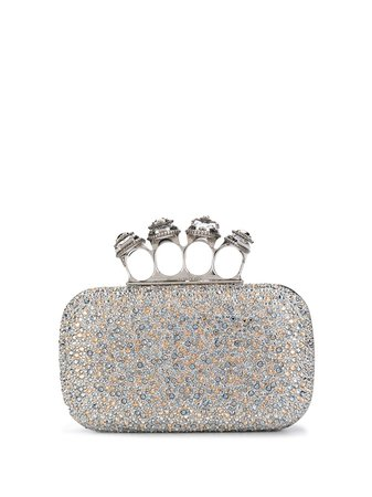 Alexander McQueen, Crystals rings Clutch Bag