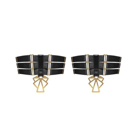 Pair of Art Deco Garters – Bordelle: Luxury Lingerie, Bodywear, Swimwear and Accessories | Designer Bondage Inspired Lingerie