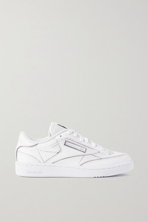 Maison Margiela Project 0 Club C Printed Leather Sneakers - White