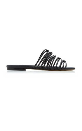 Natasha Metallic Leather Sandals By Aeyde   Moda Operandi