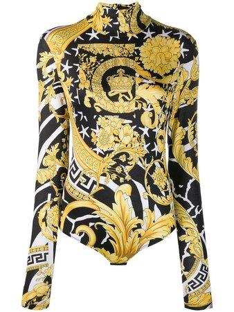 Versace Savage Barocco bodysuit - Yellow