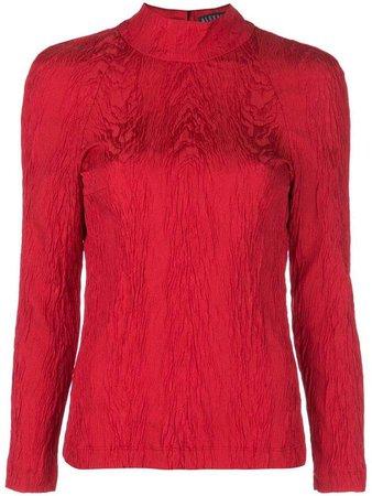 Alexa Chung open back blouse