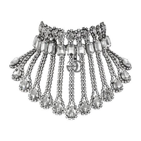 Metal necklace with crystals - Gucci Fashion Jewelry For Women 538509J1D508162