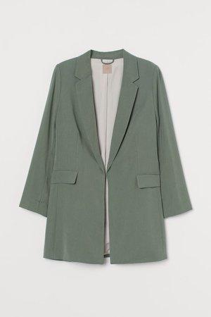 H&M+ Long jacket - Green - Ladies   H&M