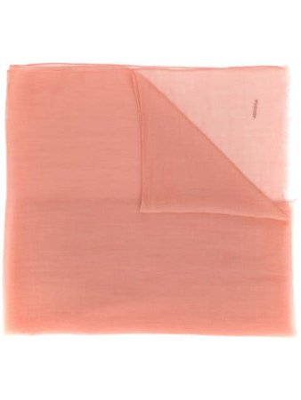 Shop pink Agnona logo cashmere scarf with Express Delivery - Farfetch