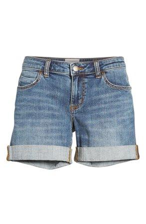 Caslon® Rolled Denim Boyfriend Shorts (Regular & Petite) | Nordstrom