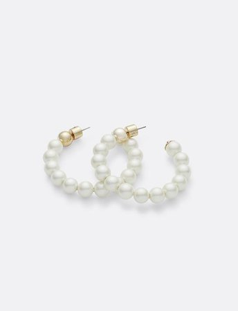 Pearl Hoops with Magnolia Cap – Draper James