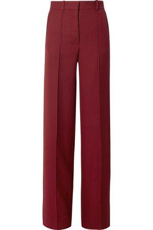 Victoria Beckham | Grain de poudre wool wide-leg pants | NET-A-PORTER.COM