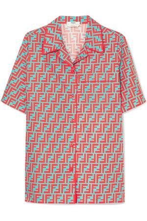 Fendi | Printed cotton-poplin shirt | NET-A-PORTER.COM