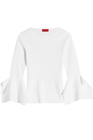 Knit Pullover with Flared Sleeves Gr. XS