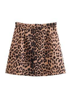 'Kasiana' Leopard Print Mini Skirt