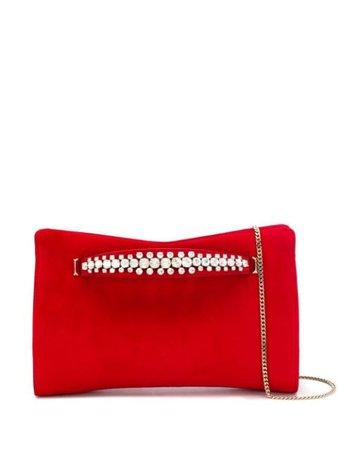 Red Jimmy Choo Venus Clutch Bag   Farfetch.com