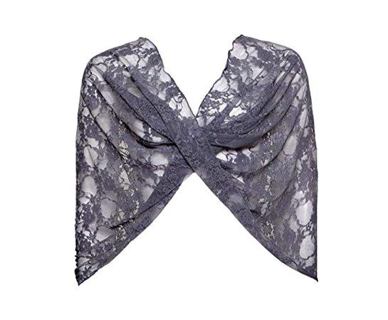 Amazon.com: Grey Lace Shawl. Versatile Loop Wrap, Wear as a Shawl, Shrug, Crisscross and Infinity Scarf. Dark Gray Lace Shawl: Handmade