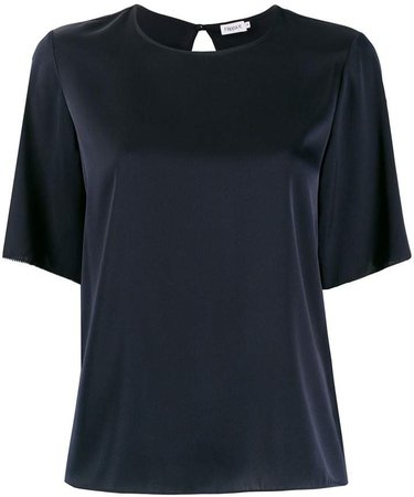 Relaxed Short-Sleeve Blouse