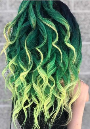 green hair - Google Search