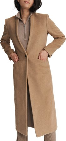 Liam Camel Hair Long Coat