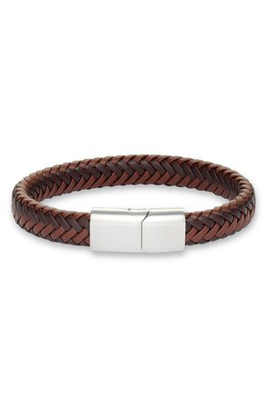 Nordstrom Woven Leather Bracelet | Nordstrom
