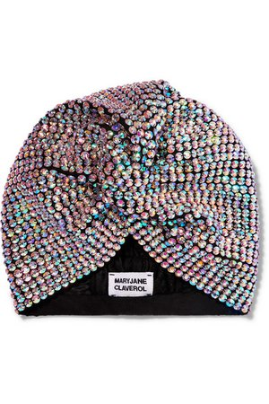MaryJane Claverol   Honore crystal-embellished stretch-cotton turban   NET-A-PORTER.COM
