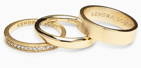 gold 3 ring set