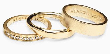 gold 3 ring set