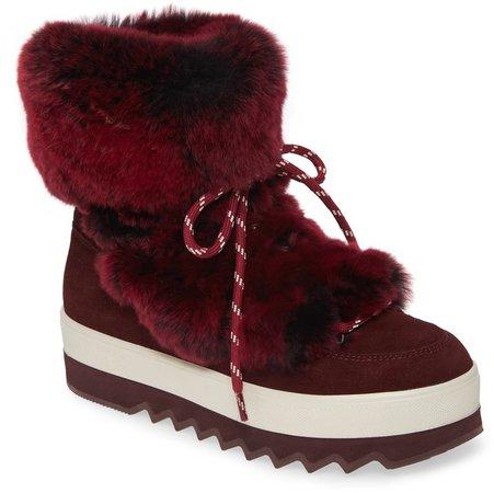 Vivian Limited Edition Genuine Rabbit Fur Boot