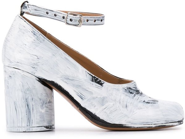 metallic-effect 90mm Tabi pumps