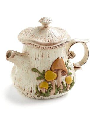 mushroom teapot