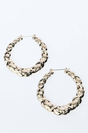TWISTED TEA BAMBOO HOOP EARRING in color gold