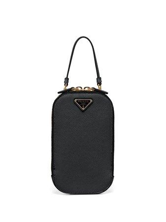 Prada zip-around Logo Handbag - Farfetch