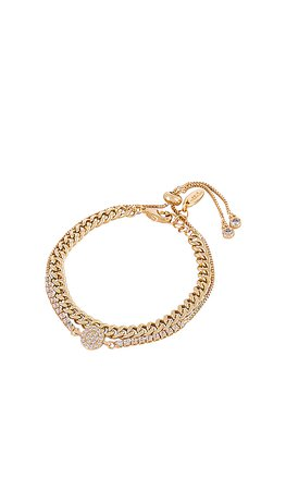 Ettika Crystal & Chain Bracelet Set in Gold | REVOLVE