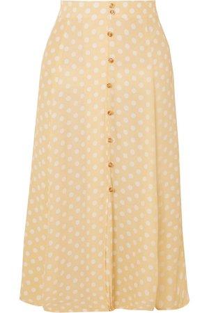 Faithfull The Brand | Marin polka-dot crepe midi skirt | NET-A-PORTER.COM