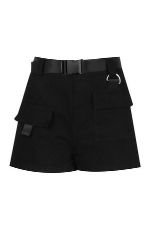Buckle Belted Utility Short | Boohoo