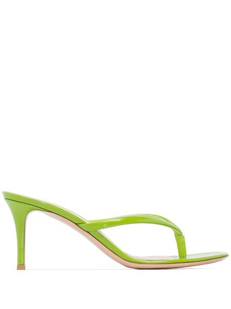 Gianvito Rossi Calypso 70Mm Thong-Strap Sandals Ss20 | Farfetch.com
