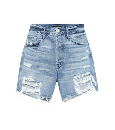 Blake high-rise denim shorts