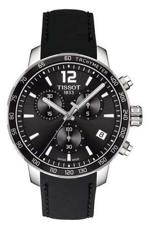 Tissot Quickster Chronograph Rubber Strap Watch, 42mm   Nordstrom